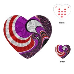 Fractal Art Red Design Pattern Playing Cards (heart)