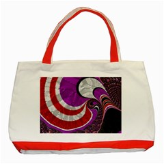 Fractal Art Red Design Pattern Classic Tote Bag (Red)