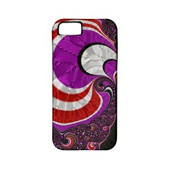 Fractal Art Red Design Pattern Apple Iphone 5 Classic Hardshell Case (pc+silicone)