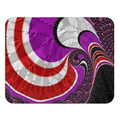 Fractal Art Red Design Pattern Double Sided Flano Blanket (large)