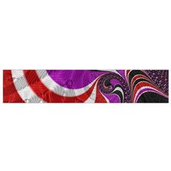 Fractal Art Red Design Pattern Flano Scarf (small)