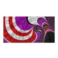Fractal Art Red Design Pattern Satin Wrap