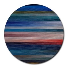 Background Horizontal Lines Round Mousepads