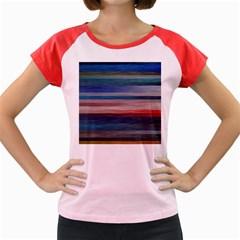 Background Horizontal Lines Women s Cap Sleeve T-Shirt