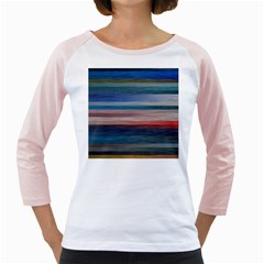Background Horizontal Lines Girly Raglans