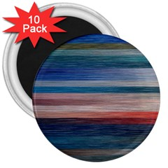 Background Horizontal Lines 3  Magnets (10 Pack)