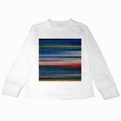Background Horizontal Lines Kids Long Sleeve T-Shirts