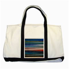 Background Horizontal Lines Two Tone Tote Bag