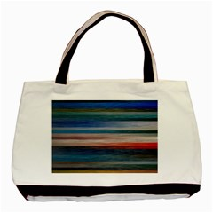 Background Horizontal Lines Basic Tote Bag (Two Sides)