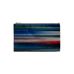 Background Horizontal Lines Cosmetic Bag (Small)