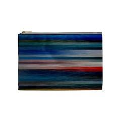Background Horizontal Lines Cosmetic Bag (Medium)