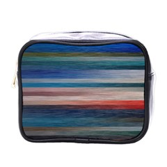 Background Horizontal Lines Mini Toiletries Bags