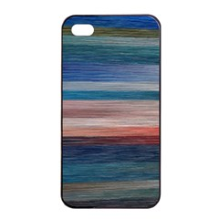 Background Horizontal Lines Apple Iphone 4/4s Seamless Case (black)
