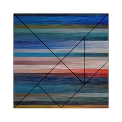 Background Horizontal Lines Acrylic Tangram Puzzle (6  X 6 )