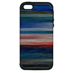 Background Horizontal Lines Apple iPhone 5 Hardshell Case (PC+Silicone)