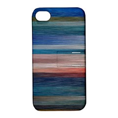 Background Horizontal Lines Apple Iphone 4/4s Hardshell Case With Stand