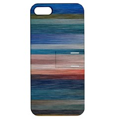 Background Horizontal Lines Apple iPhone 5 Hardshell Case with Stand
