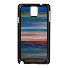 Background Horizontal Lines Samsung Galaxy Note 3 N9005 Case (black)
