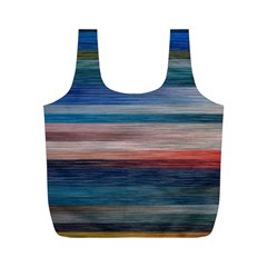 Background Horizontal Lines Full Print Recycle Bags (m)