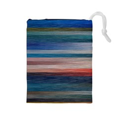 Background Horizontal Lines Drawstring Pouches (large)
