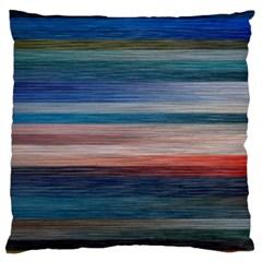 Background Horizontal Lines Large Flano Cushion Case (Two Sides)