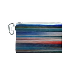Background Horizontal Lines Canvas Cosmetic Bag (S)