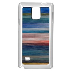 Background Horizontal Lines Samsung Galaxy Note 4 Case (White)
