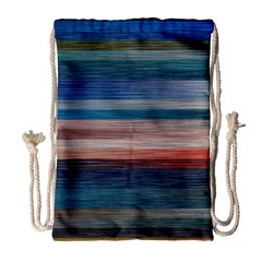 Background Horizontal Lines Drawstring Bag (large)