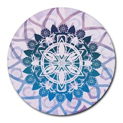 Mandalas Symmetry Meditation Round Round Mousepads