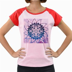 Mandalas Symmetry Meditation Round Women s Cap Sleeve T-Shirt