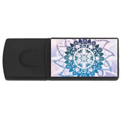 Mandalas Symmetry Meditation Round USB Flash Drive Rectangular (4 GB)