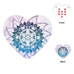 Mandalas Symmetry Meditation Round Playing Cards (Heart)