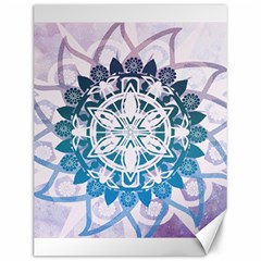 Mandalas Symmetry Meditation Round Canvas 12  x 16