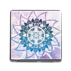 Mandalas Symmetry Meditation Round Memory Card Reader (square)