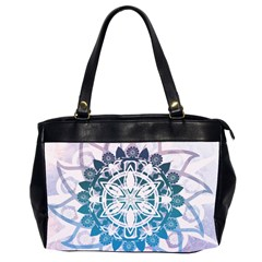 Mandalas Symmetry Meditation Round Office Handbags (2 Sides)