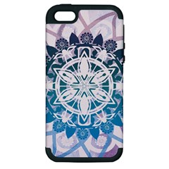 Mandalas Symmetry Meditation Round Apple iPhone 5 Hardshell Case (PC+Silicone)
