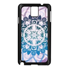 Mandalas Symmetry Meditation Round Samsung Galaxy Note 3 N9005 Case (black)