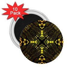 Abstract Glow Kaleidoscopic Light 2.25  Magnets (10 pack)