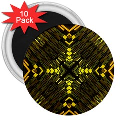 Abstract Glow Kaleidoscopic Light 3  Magnets (10 Pack)