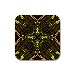 Abstract Glow Kaleidoscopic Light Rubber Coaster (square)
