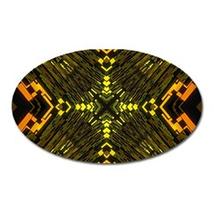 Abstract Glow Kaleidoscopic Light Oval Magnet