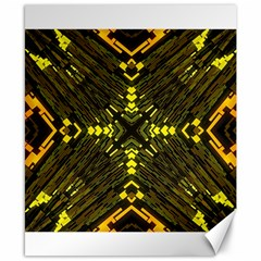 Abstract Glow Kaleidoscopic Light Canvas 8  X 10