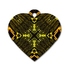 Abstract Glow Kaleidoscopic Light Dog Tag Heart (one Side)