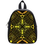 Abstract Glow Kaleidoscopic Light School Bags (Small)  Front