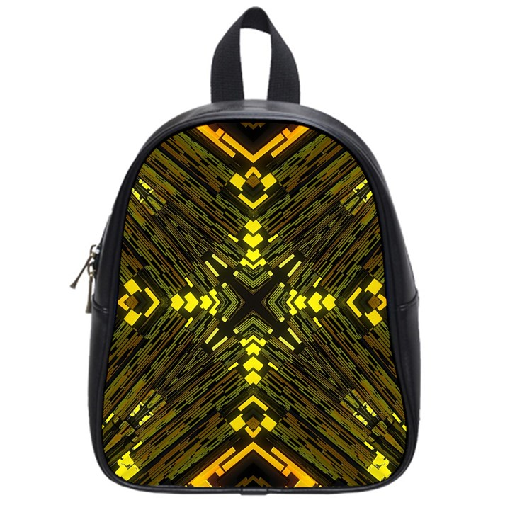 Abstract Glow Kaleidoscopic Light School Bags (Small)