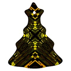 Abstract Glow Kaleidoscopic Light Christmas Tree Ornament (two Sides)