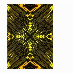 Abstract Glow Kaleidoscopic Light Large Garden Flag (two Sides)