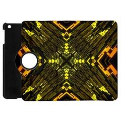 Abstract Glow Kaleidoscopic Light Apple Ipad Mini Flip 360 Case