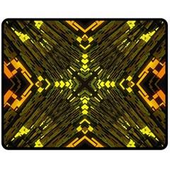 Abstract Glow Kaleidoscopic Light Double Sided Fleece Blanket (medium)