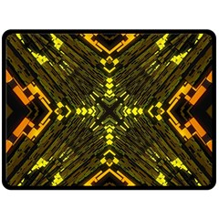 Abstract Glow Kaleidoscopic Light Double Sided Fleece Blanket (Large)